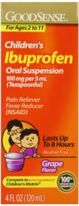 GoodSense Children's Ibuprofen Pain Reliever Fever Reducer Oral Suspension, Grape, 4 Fluid Ounce