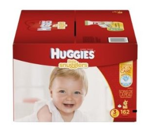 Huggies Little Snugglers Baby Diapers, Size 3, 162 Count (Packaging May Vary)