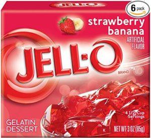 Jell-O Gelatin Dessert, Strawberry Banana, 3-Ounce Boxes (Pack of 6)