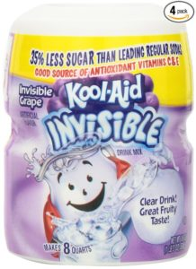 Kool-Aid Invisible Drink Mix, Grape, 19-Ounce Container (Pack of 4)