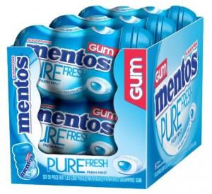 Mentos Gum Big Bottle Curvy, Pure Fresh Mint, (Pack of 6)