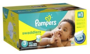 Pampers Swaddlers Diapers Size 3 Economy Pack Plus 162 Count (One Month Supply)