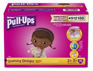 Pull-Ups Learning Designs Training Pants for Girls, Size 2T-3T, 74 Count