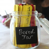 How we made our Summer Bored Jar