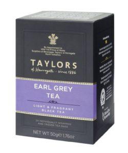 Taylors of Harrogate, Black Tea, Earl Grey Tea, 20 Count Tea Sachet