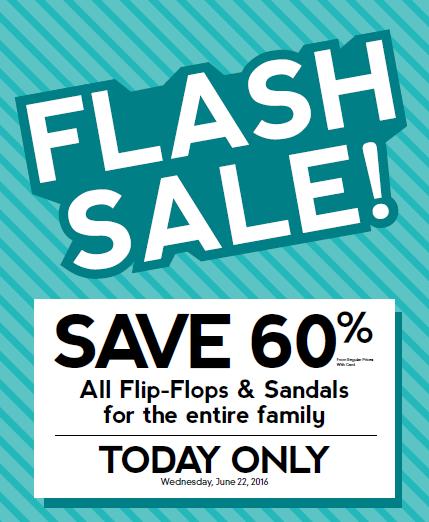 Flash Sale: 60% off Flip-Flops & Sandals