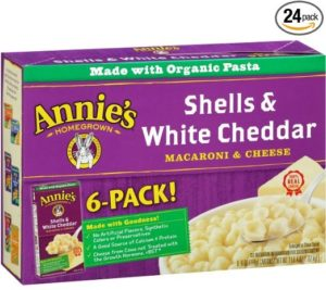 Annie's Homegrown Shells & White Cheddar, 6-Ounce Boxes (Pack of 24)