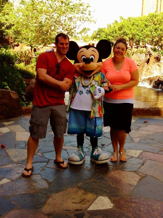 Aulani with Mickey