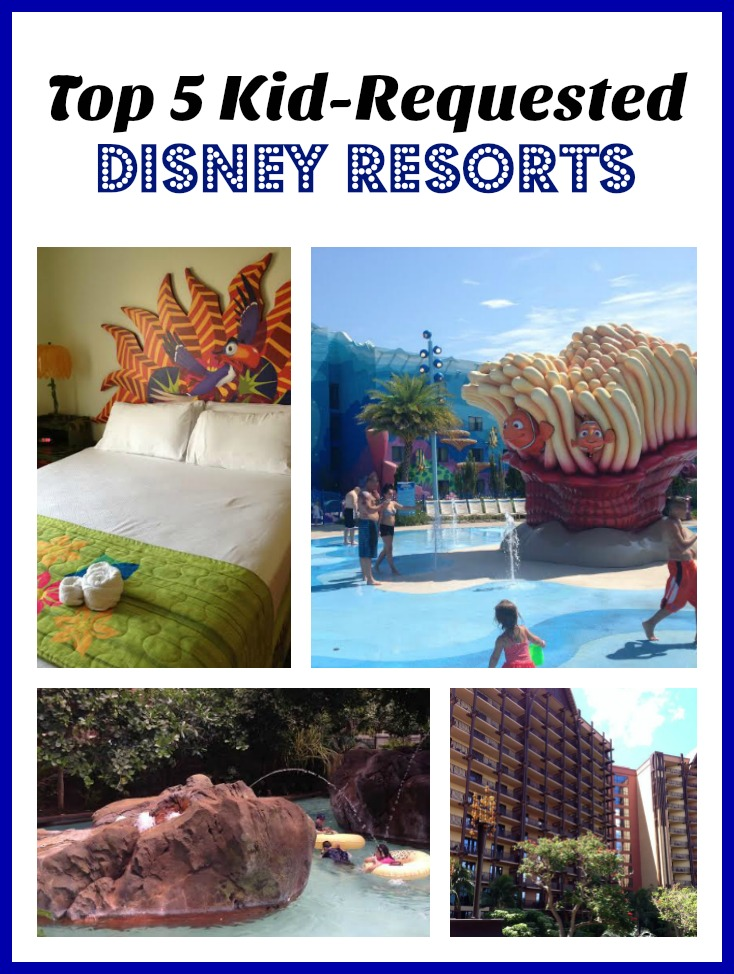 Top 5 Kid-Requested Disney Resorts