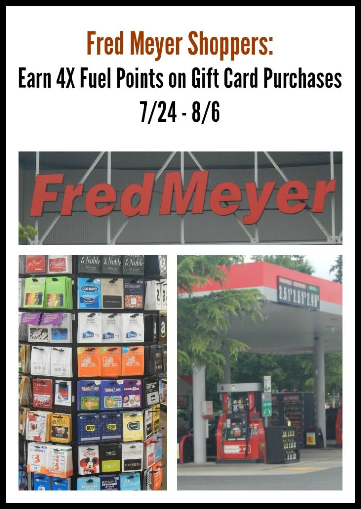 Fuel Rewards at Fred Meyer: Earn 4X on Gift Card Purchases