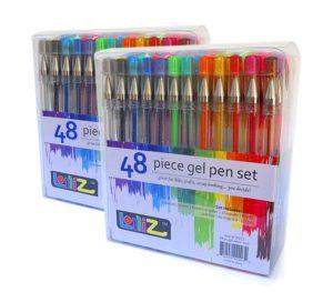 LolliZ Gel Pens 96 Gel Pen Set - 2 Packs of 48 pens each