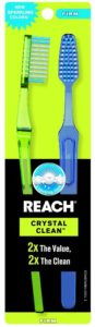Reach Crystal Clean Firm Value Pack Adult Toothbrushes, 2 Count