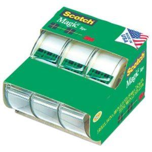 Scotch Magic Tape 3105, 3 4 x 300 Inches, Pack of 3