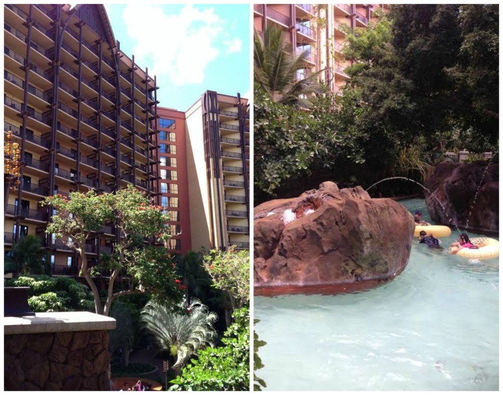 Aulani Hotel and Pool Area