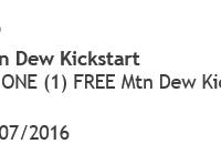 Free Mt Dew Kickstart