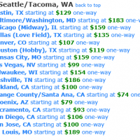 Southwest Air Nationwide Sale: Flights as low as $79 one-way from Seattle!
