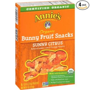 Annie's Homegrown Sunny Citrus Organic Bunny Fruit Snacks, 4-Ounce Boxes (Pack of 4)