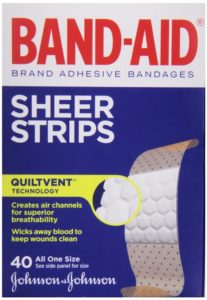 BAND-AID Sheer Strips Adhesive Bandages, All One Size 40 each