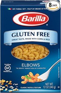 Barilla Elbows Pasta Gluten Free, 12 Ounce (Pack of 8)