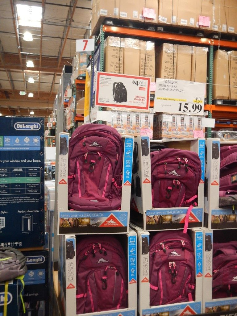 Backpacks at Costco