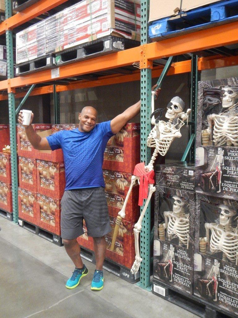 Skeleton on Display at Costco