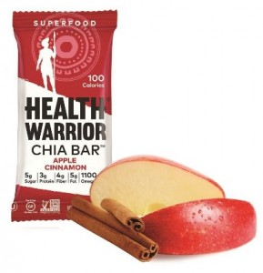 Health Warrior Chia Bars, Apple Cinnamon, 13.2-Ounce (Pack of 15)