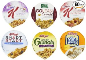 Kellogg's Cereal Cup Assortment Pack - Wellness (6 Flavors),Pack of 60