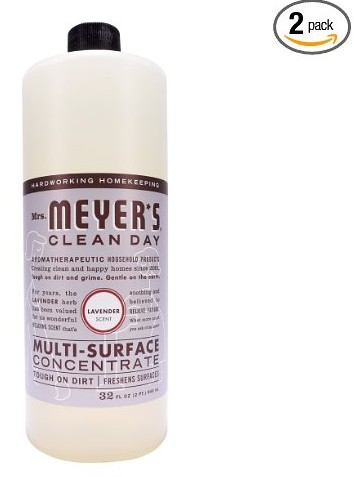 Mrs. Meyer's Clean Day All Purpose Cleaner, Lavender, 32 Fluid Ounce (Pack of 2)