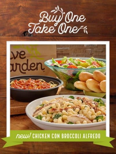 Olive Garden Buy One Take One Entr E