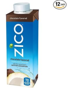 Zico Chocolate Coconut Water Bottle, 8.45 Fluid Ounce (Pack of 12)