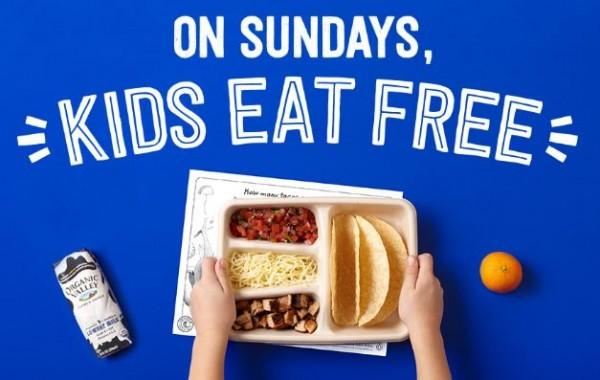chipotle kids eat free