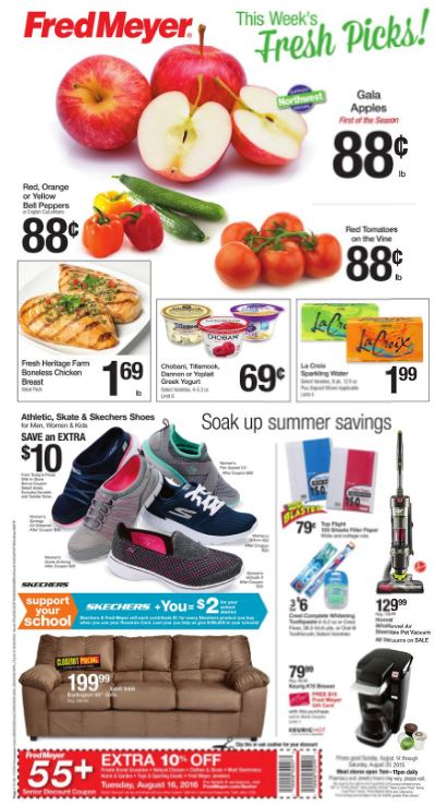 Fred Meyer Weekly Coupon Deals 8 14 – 8 20 $1 69 lb