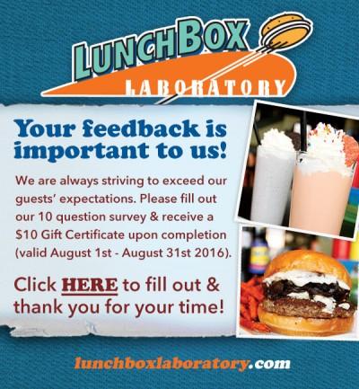lunchbox laboratory survey