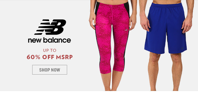 20748efa311ff 6pm: New Balance Workout Apparel up to 79% off + FREE shipping!