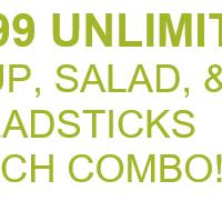 Olive Garden: $5.99 Unlimited Soup, Salad & Breadsticks