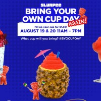 7-Eleven: Bring Your Own Cup & Fill a Slurpee for $1.50 (8/19 & 8/20)