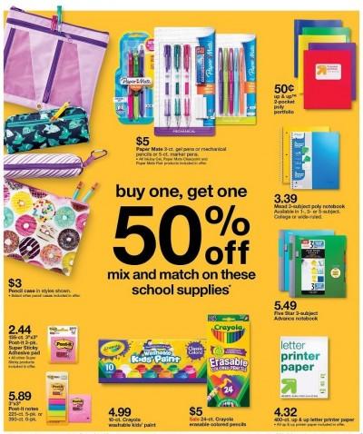 Target School Supplies 8 21 16