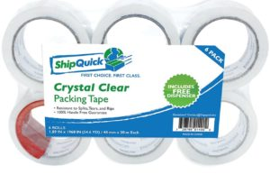crystal-clear-packing-tape-6-pack-with-dispenser-shipquick-packaging-tape-for-industrial-and-professional-shipping-great-for-moving-6-pack-with-dispenser-crystal-clear