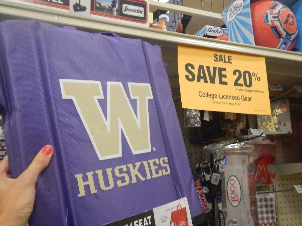 College Licensed Gear at Fred Meyer