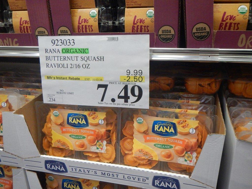 Organic Butternut Squash Ravioli at Costco