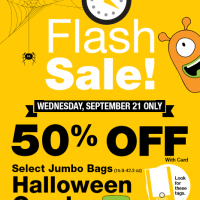 QFC Flash Sale: 50% off Halloween Jumbo Bags of Candy (9/21 only)