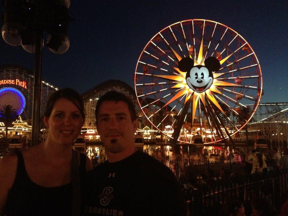 Mickey Fun Wheel at night