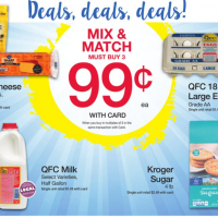 QFC Mix & Match Sale: $0.99 Eggs, Milk, Cheese & Sugar