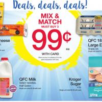 QFC Mix & Match Sale: $0.99 Eggs, Milk, Cheese & Sugar