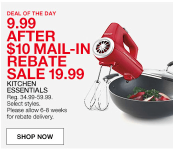 macy's: small kitchen appliances or stock pots $9.99 after rebate