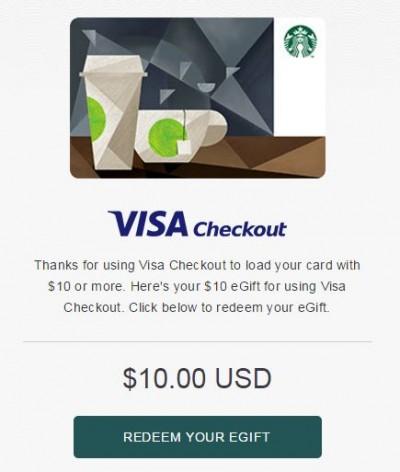 visa checkout starbucks