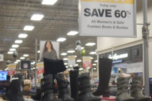 Fred Meyer Flash Sale Boots Display