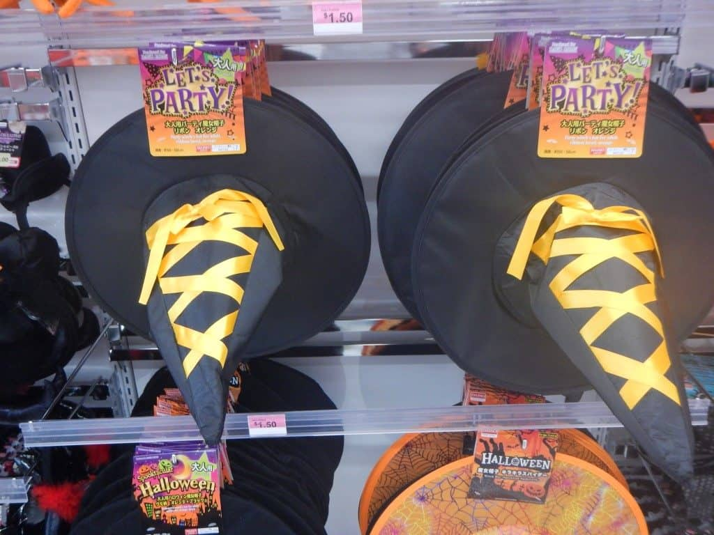 Witches Hats at Daiso