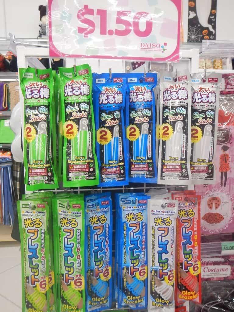 Glow Sticks at Daiso