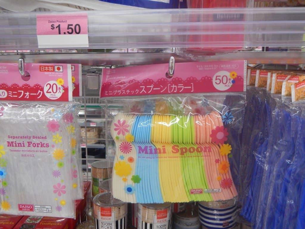 Mini Spoons at Daiso